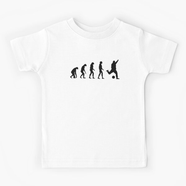 Evolved to play Soccer Kids T-Shirt