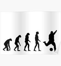 Evolved to play Soccer Poster