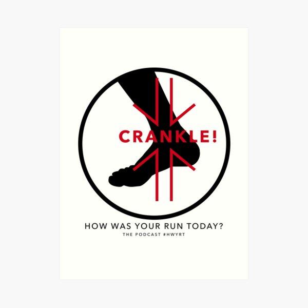 Crankle 2016black Art Print