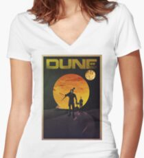 Dune Women's Fitted V-Neck T-Shirt