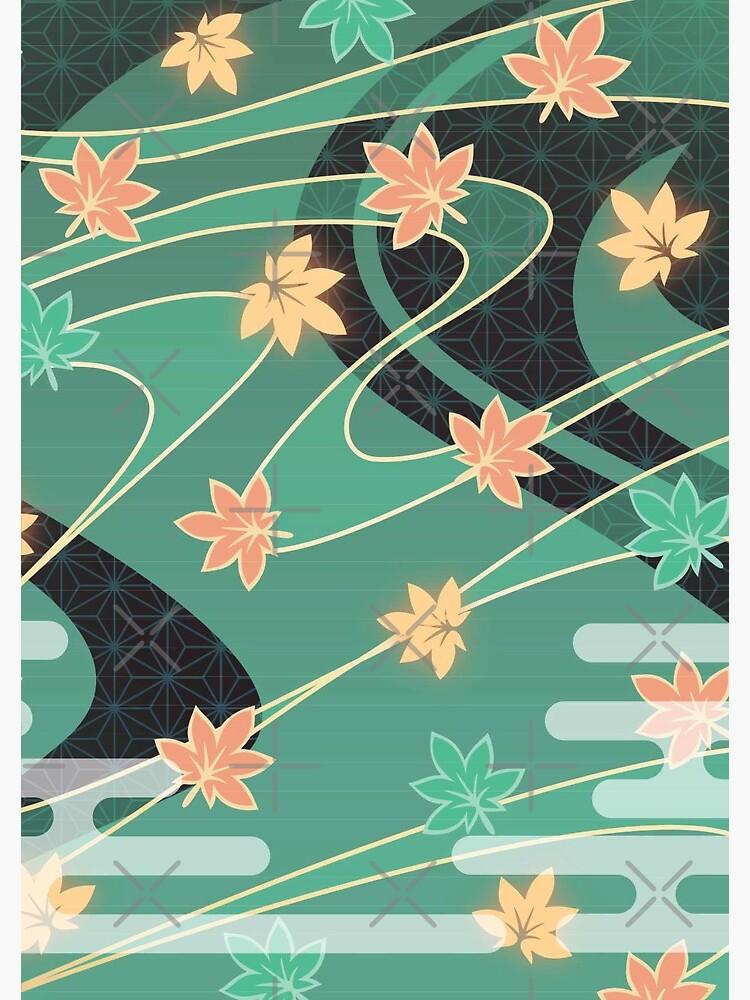 Kazuha Anemo Maple Pattern by kkkohi