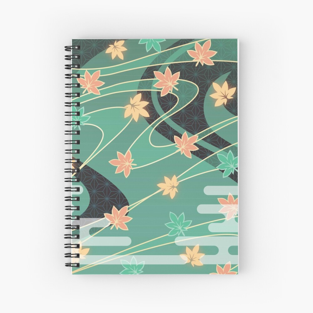 Kazuha Anemo Maple Pattern Spiral Notebook