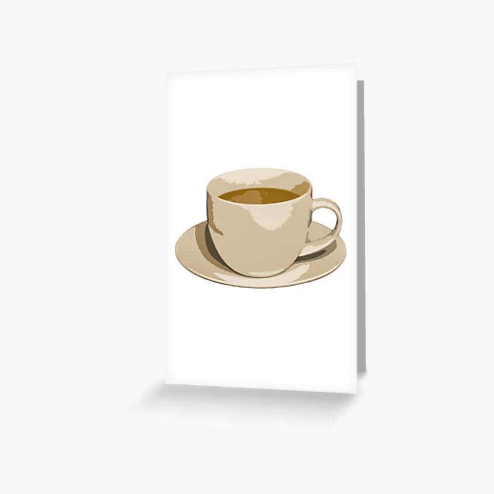 Kaffee Grußkarte