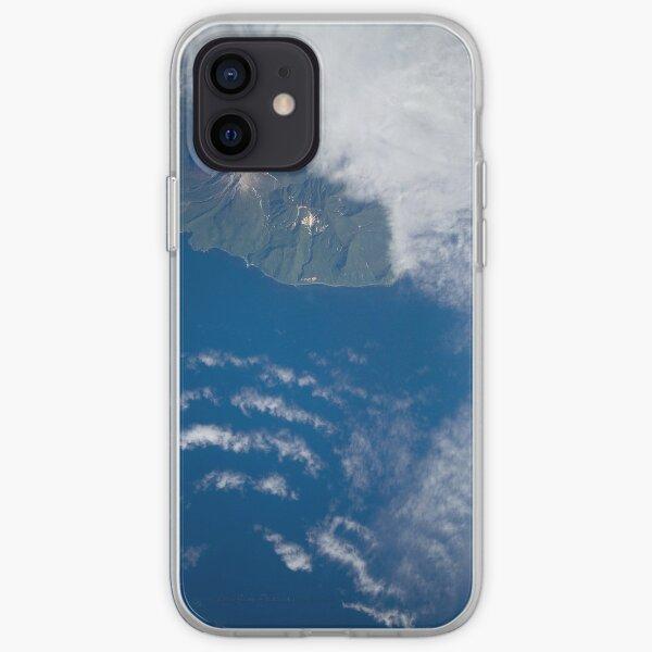Vulkan Ekarma Volcanic Island Satellite Image iPhone Soft Case