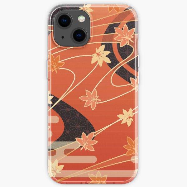 Kaedehara Kazuha Maple Pattern iPhone Soft Case