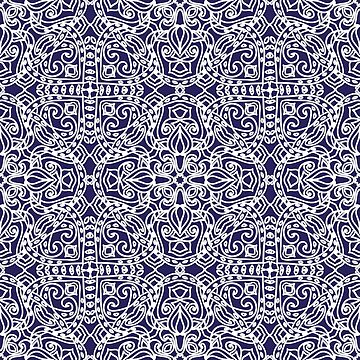 Beautiful Vintage seamless pattern. Ornament. Unusual. Indian motif. For your design. by dasha122007