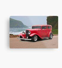 1932 Ford 'chopped top' Sedan Metal Print