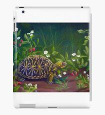 Florida Box Turtle, Strawberries and Blooms iPad Case/Skin