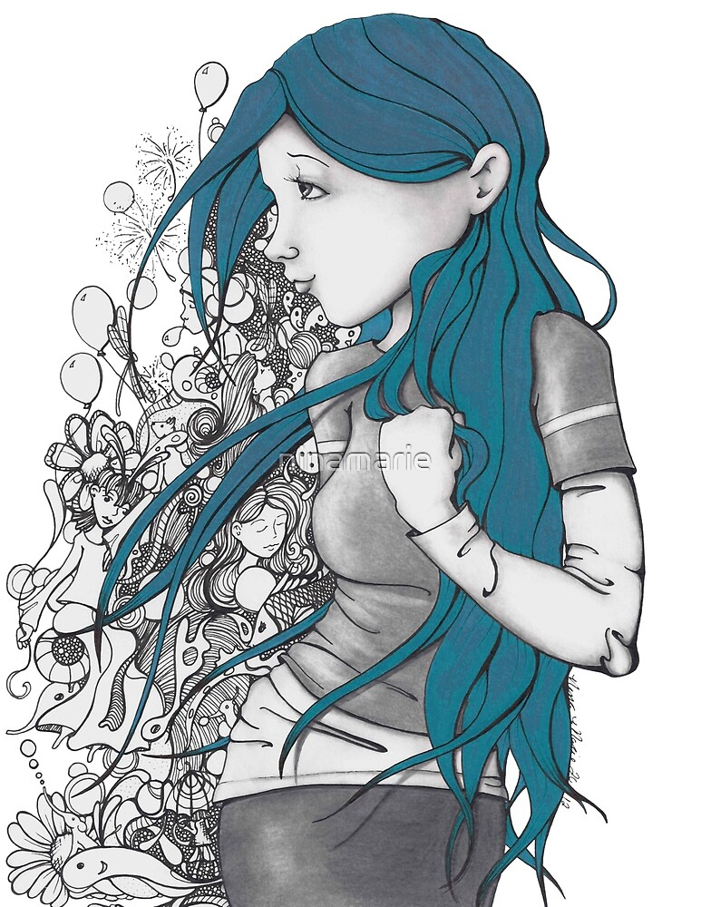 Every thought blue version by ninamarie
