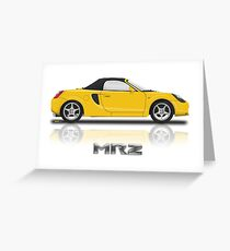 Toyota MR2 Roadster - Yellow Greeting Card
