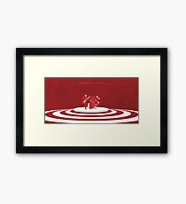 The White Stripes Wide Framed Print