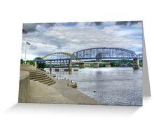 The Purple People Bridge Greeting Card