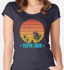 Visit Tropical Yavin Four! Women's Fitted Scoop T-Shirt