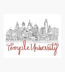 Temple University Skyline Fotodruck
