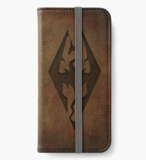 Skyrim Worn Leather Emboss iPhone Wallet/Case/Skin