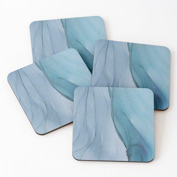 Calm - Mixed Media Art Coasters (Set of 4)