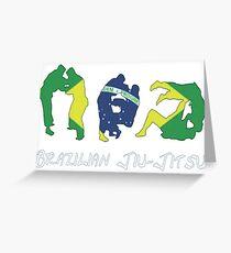 Brazilian Jiu-Jitsu Martial Arts Greeting Card
