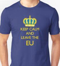 Leave EU Funny Anti European Union Protest Unisex T-Shirt