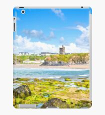 seaweed covered rocks with castle iPad Case/Skin