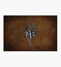 Skyrim Worn Leather Symbol Photographic Print