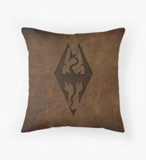 Skyrim Worn Leather Emboss Throw Pillow