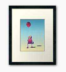 Little Red Birthday Robot 3 Framed Print