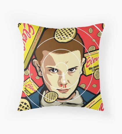 Stranger Waffles Throw Pillow