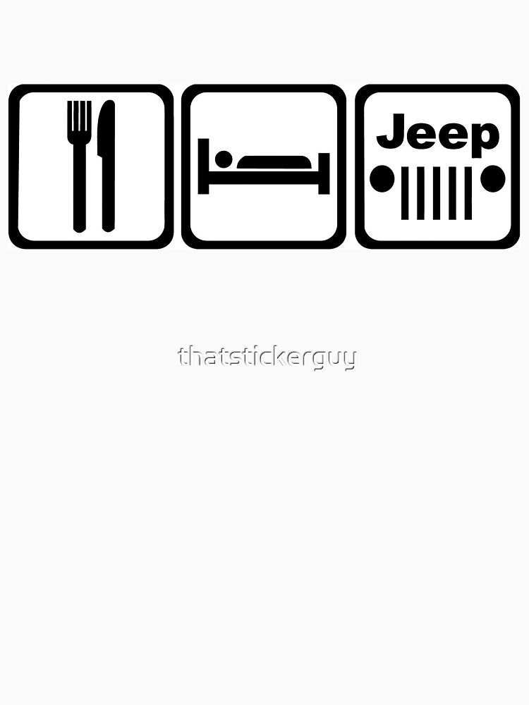 EAT SLEEP JEEP Version 2 | Unisex T-Shirt
