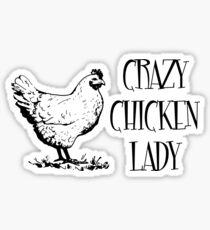 Crazy Chicken lady Sticker