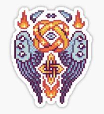 Pixel Print: Midsize Angel Sticker