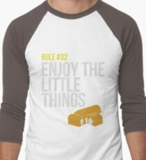 Zombie Survival Guide - Rule #32 - Enjoy the Little Things Men's Baseball ¾ T-Shirt