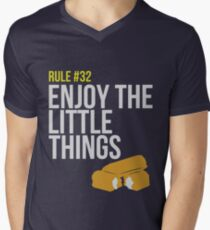 Zombie Survival Guide - Rule #32 - Enjoy the Little Things Men's V-Neck T-Shirt