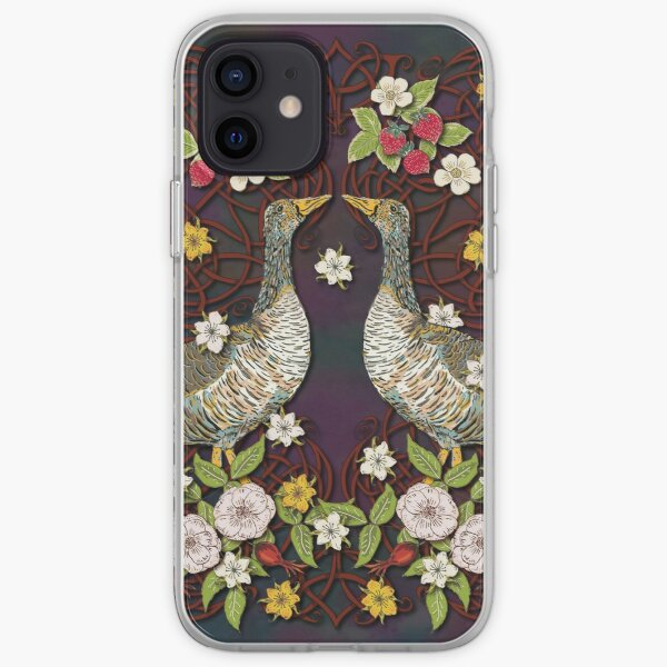 Celtic Geese with Summer Strawberries iPhone Soft Case