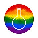 Rainbow Round Flask by moietymouse