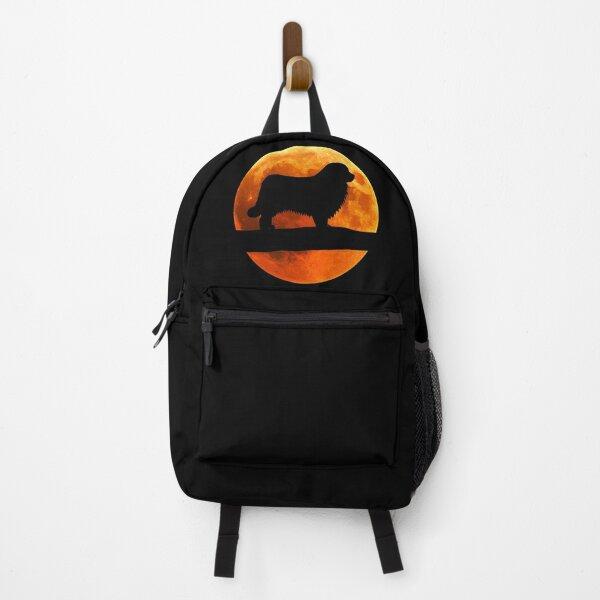 Newfoundland Dog Silhouette Moon Newfoundland lover Backpack