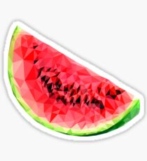 Polygonal Watermelon Sticker