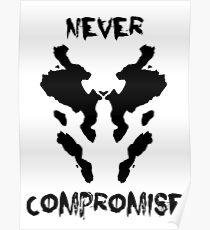 Niemals Rorschach Watchmen kompromittieren Poster