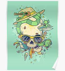 Summer skullin' Poster