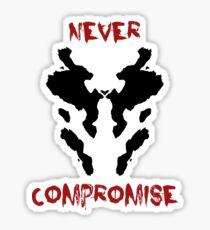 Never Compromise Rorschach Watchmen Sticker