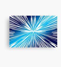 Blue Colorful Space Art Canvas Print
