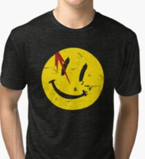 Watchmen Symbol Smile Vintage Tri-blend T-Shirt