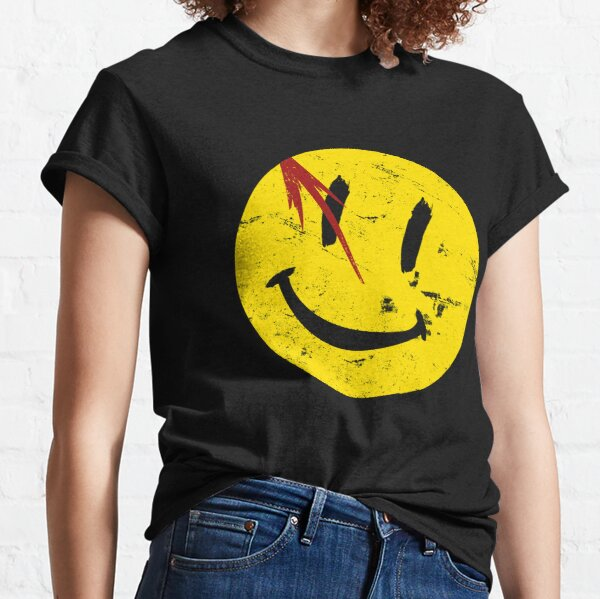 Symbole de Watchmen Smile Vintage T-shirt classique