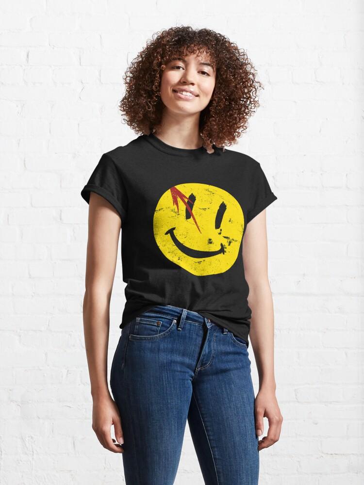 Alternate view of Watchmen Symbol Smile Vintage Classic T-Shirt