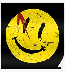 Wächter-Symbol-Lächeln-Weinlese Poster