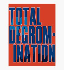 Total deGromination In Blue Photographic Print