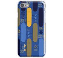 Skateboard Assembly Pattern (BLU) iPhone Case/Skin