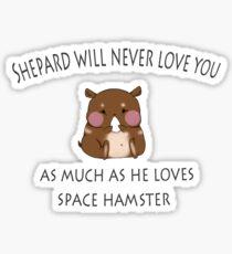 Space Hamster Sticker