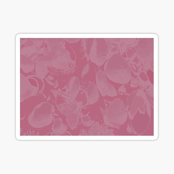Pink Seashell Print Sticker