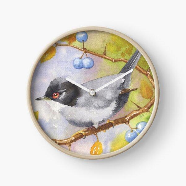 Sardinian Warbler Clock