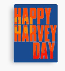 Happy Harvey Day In Orange Canvas Print